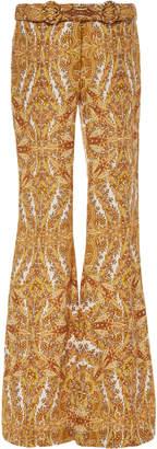 Zimmermann Zippy Rocker Printed Linen Pants