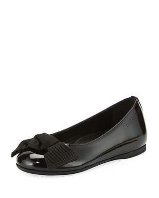 Burberry Trixie Patent Leather Ballet Flat, Black, Toddler/Youth Sizes 10T-4Y