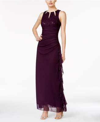 Betsy & Adam Sleeveless Embellished Lace Gown $179 thestylecure.com