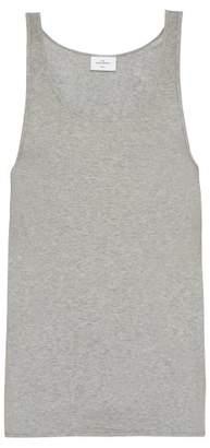 THE WHITE BRIEFS Rye Cotton Jersey Vest - Mens - Grey