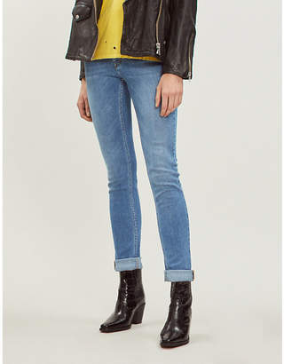 Zadig & Voltaire Zadig&Voltaire Davida embroidered skinny mid-rise jeans