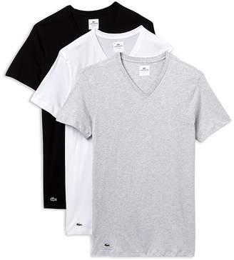 Lacoste Slim Fit V-Neck Tee, Pack of 3