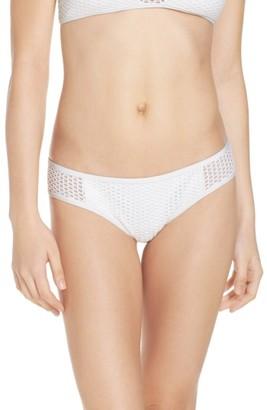 Women's Red Carter Mesh Bikini Bottoms $76 thestylecure.com