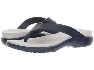 5d56239816ee Crocs Leather Footbed Women s Sandals - ShopStyle