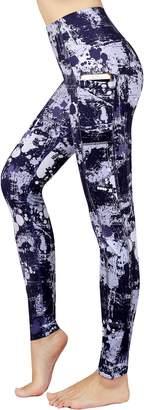 New Minc Women's Galaxy Yoga Pants Capri High Waist Leggings with Pockets(,L)