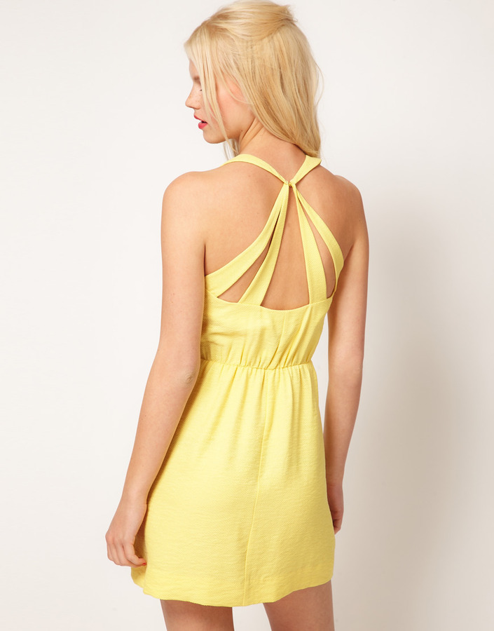 Asos Summer Dress With Strappy Back