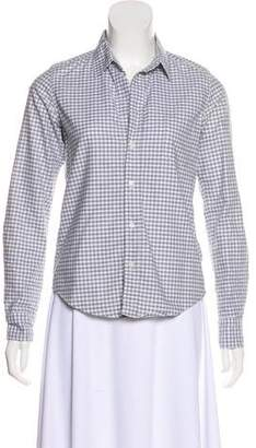 Frank And Eileen Gingham Button-Up Top