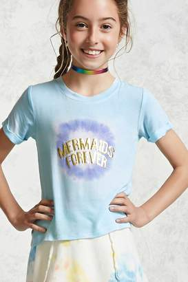 Forever 21 Girls Mermaids Forever Tee (Kids)