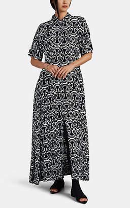 Jil Sander Women's Tapestry-Print Maxi Shirtdress - Navy