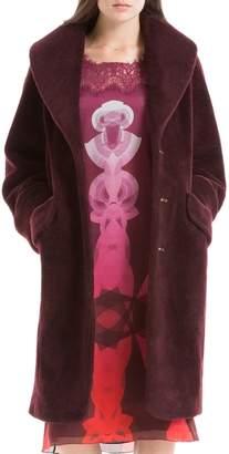 Max Studio Soft Faux-fur Topper Coat