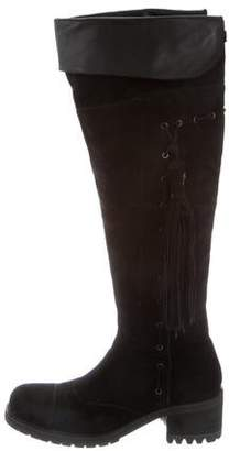 Cesare Paciotti Tassel-Accented Knee-High Boots