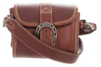 Ralph Lauren Grained Leather Crossbody Brown Grained Leather Crossbody