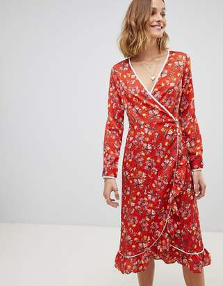 Free People Covent Garden Floral Wrap Dress