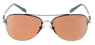 Tiffany & Co. Tinted Aviator Sunglasses