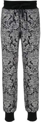 Dolce & Gabbana Heraldic patch jacquard trousers