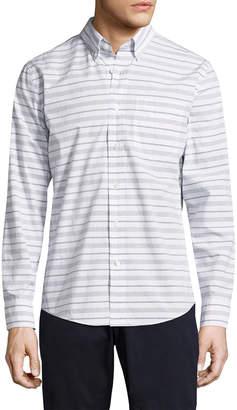 Jack Spade Palmer Horizontal Variated Stripe Sportshirt