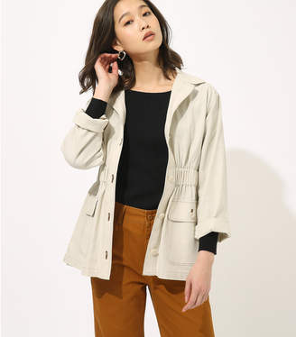 AZUL by moussy (アズール バイ マウジー) - 【AZUL BY MOUSSY】LINEN TOUCH SAFARI ジャケット O/WHT