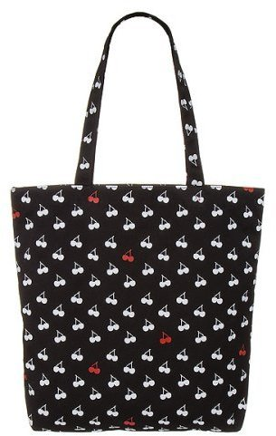 Xhilaration® Cherries Graphic Tote - Black