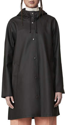 Stutterheim Mosebacke Rubberized Raincoat, Black