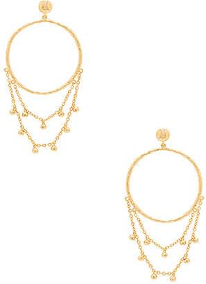 gorjana Sol Drape Hoop Earrings in Metallic Gold. $60 thestylecure.com