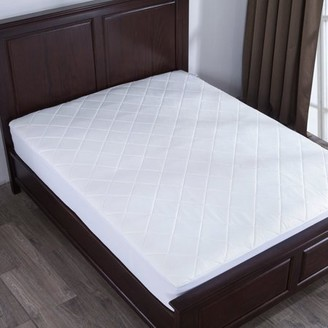 Pure Down Puredown Memory Foam Mattress Pad Bed Topper, Diamond Quilting, King Size