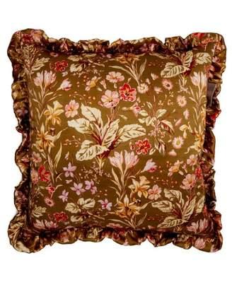 Preen by Thornton Bregazzi Floral Print Silk Cushion - Womens - Pink Multi