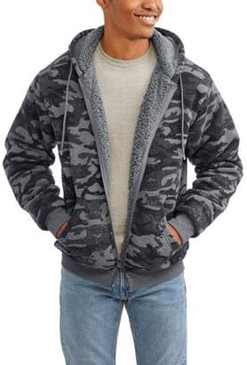 Generic Men's Printed Camo Fleece Hoodie, Up to 3XL