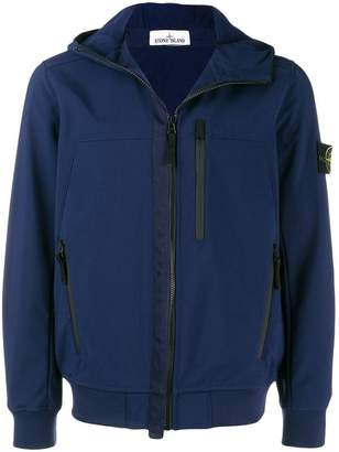 Stone Island zipped hooded jacket