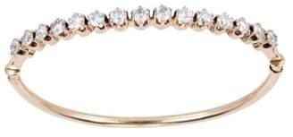 14K Rose Gold 2.55ct European Cut Diamond Oval Vintage Bangle Bracelet