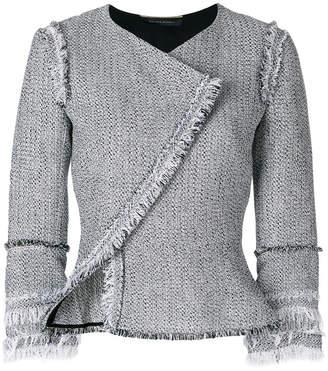 Roland Mouret frayed asymmetric front jacket