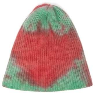 The Elder Statesman Tie Dye Cashmere Beanie Hat - Womens - Pink