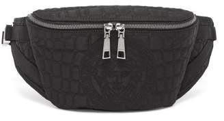 Versace (ヴェルサーチ) - VERSACE Crocodile-texture logo belt bag