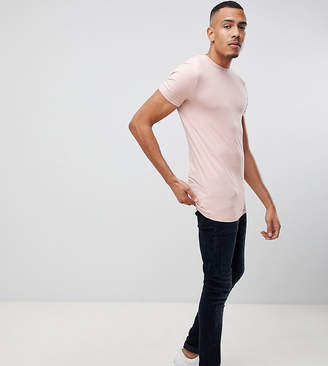Asos DESIGN Tall organic muscle fit t-shirt with crew neck in pink
