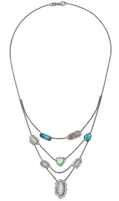 Kimberly McDonald - 18-karat Blackened White Gold, Opal And Diamond Necklace