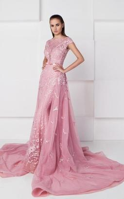 Saiid Kobeisy - Illusion Overskirt Gown 2763 $1,860 thestylecure.com