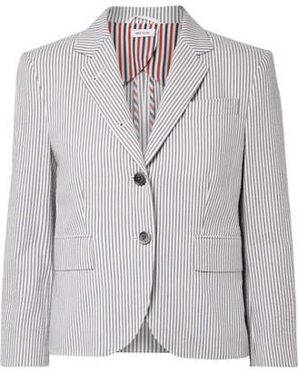 Thom Browne Striped Cotton-seersucker Blazer