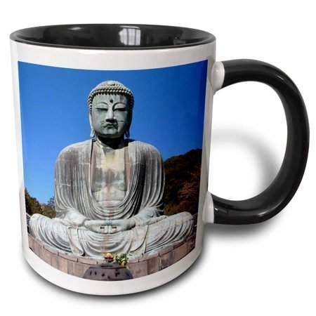 3dRose Buddha, Two Tone Black Mug, 11oz