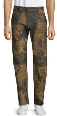 Motard Acid-Wash Jeans