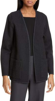Eileen Fisher Organic Cotton Open Front Jacket
