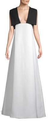 Valentino Virgin Wool A-Line Gown