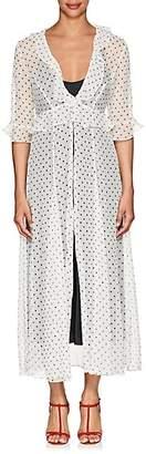 Leone WE ARE Women's Polka Dot- & Star-Print Crinkled Silk Cardigan - White