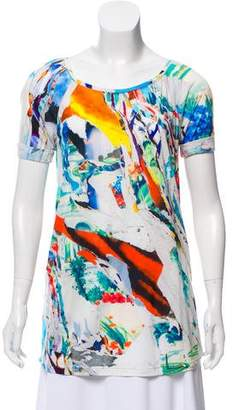 Hussein Chalayan Printed Scoop Neck T-Shirt w/ Tags