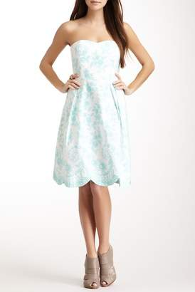 J.Mclaughlin Malibu Print Scallop Dress