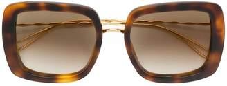 Elie Saab tortoiseshell square sunglasses