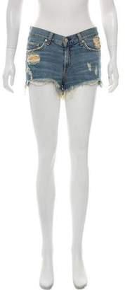 Rag & Bone Mid-Rise Distressed Shorts