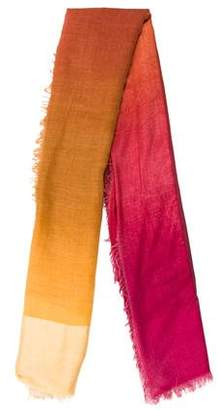 Faliero Sarti Colorblock Raw-Edge Scarf