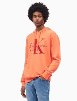 Calvin Klein monogram logo hooded sweatshirt