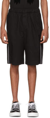 McQ Black Patch Drawstring Shorts