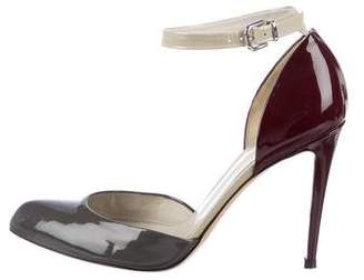 Gianvito Rossi Patent Leather Ankle-Strap Pumps