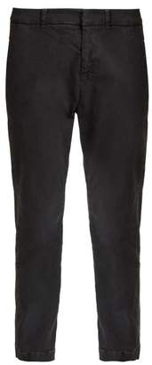Nili Lotan - Tel Aviv Straight Leg Stretch Cotton Trousers - Womens - Dark Grey